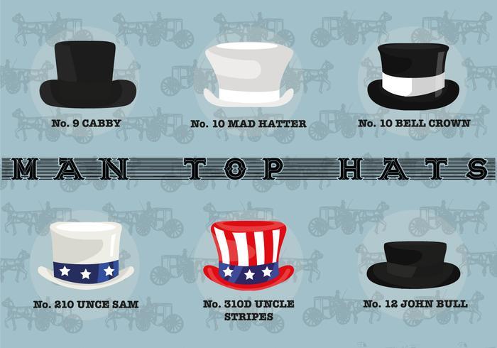 Gratis Man Top Hattar Vector