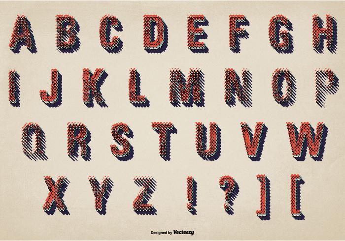 Messy Grunge Alphabet Set vektor