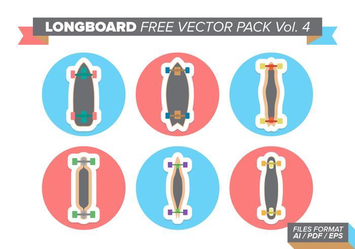 Longboard kostenlos vektor pack vol. 4