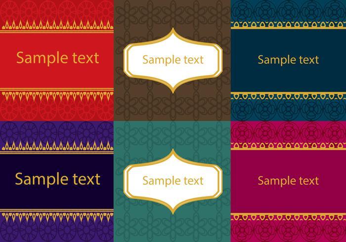 Set av asiatiska thailändska mönster vektor