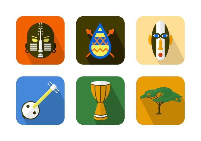African Icon Vektor Hintergrund