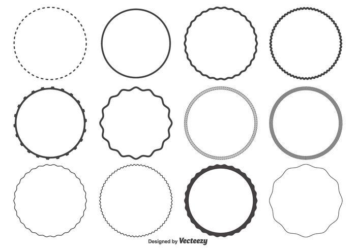 Cirkelformat Set vektor