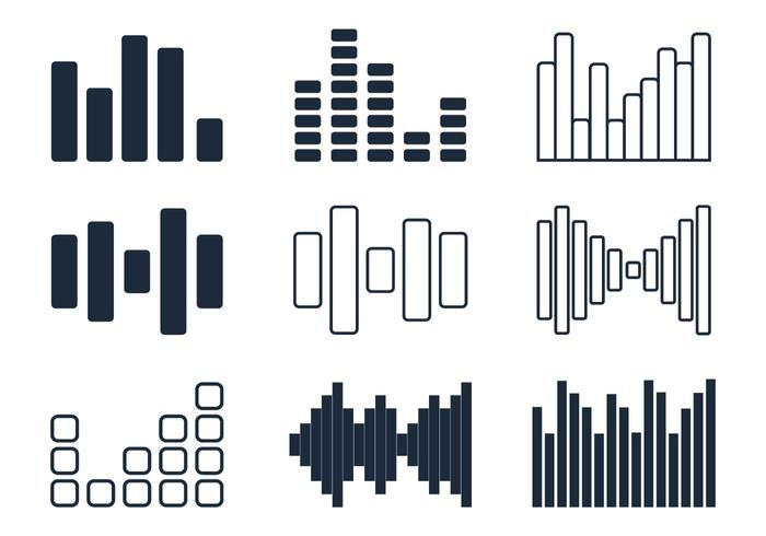 Sound Bars Minimalistisk Ikon vektor