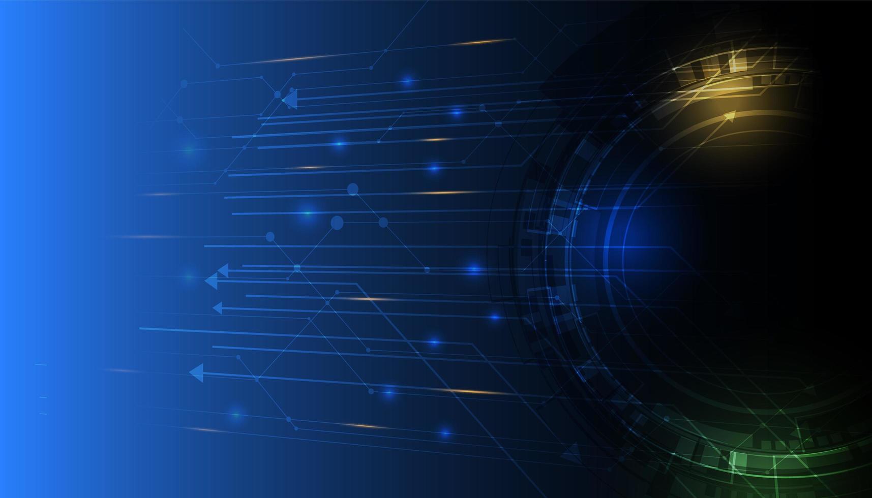 abstrakter Technologiehintergrund mit leuchtendem Schaltungsmuster vektor
