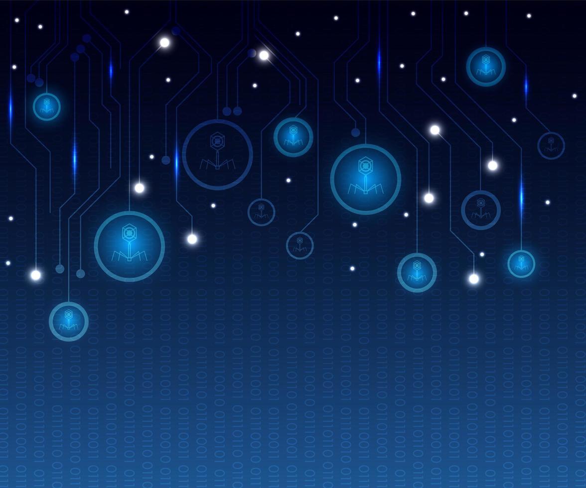 abstrakter blauer Technologiehintergrund mit leuchtendem Kreis vektor