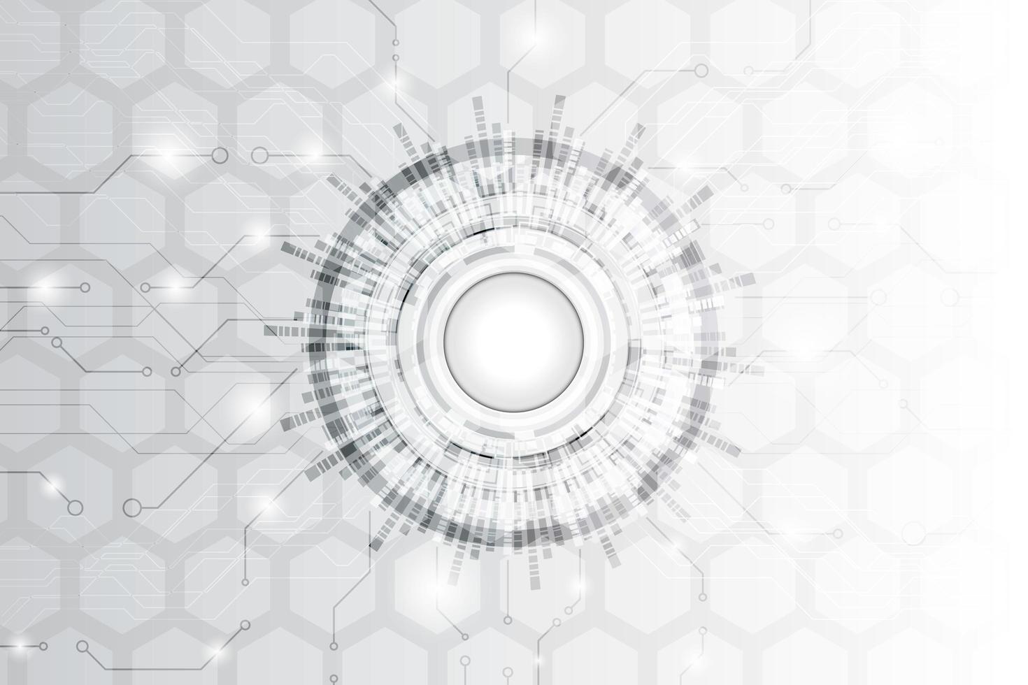 abstrakter Schwarzweiss-Technologie-Ausrüstungshintergrund vektor