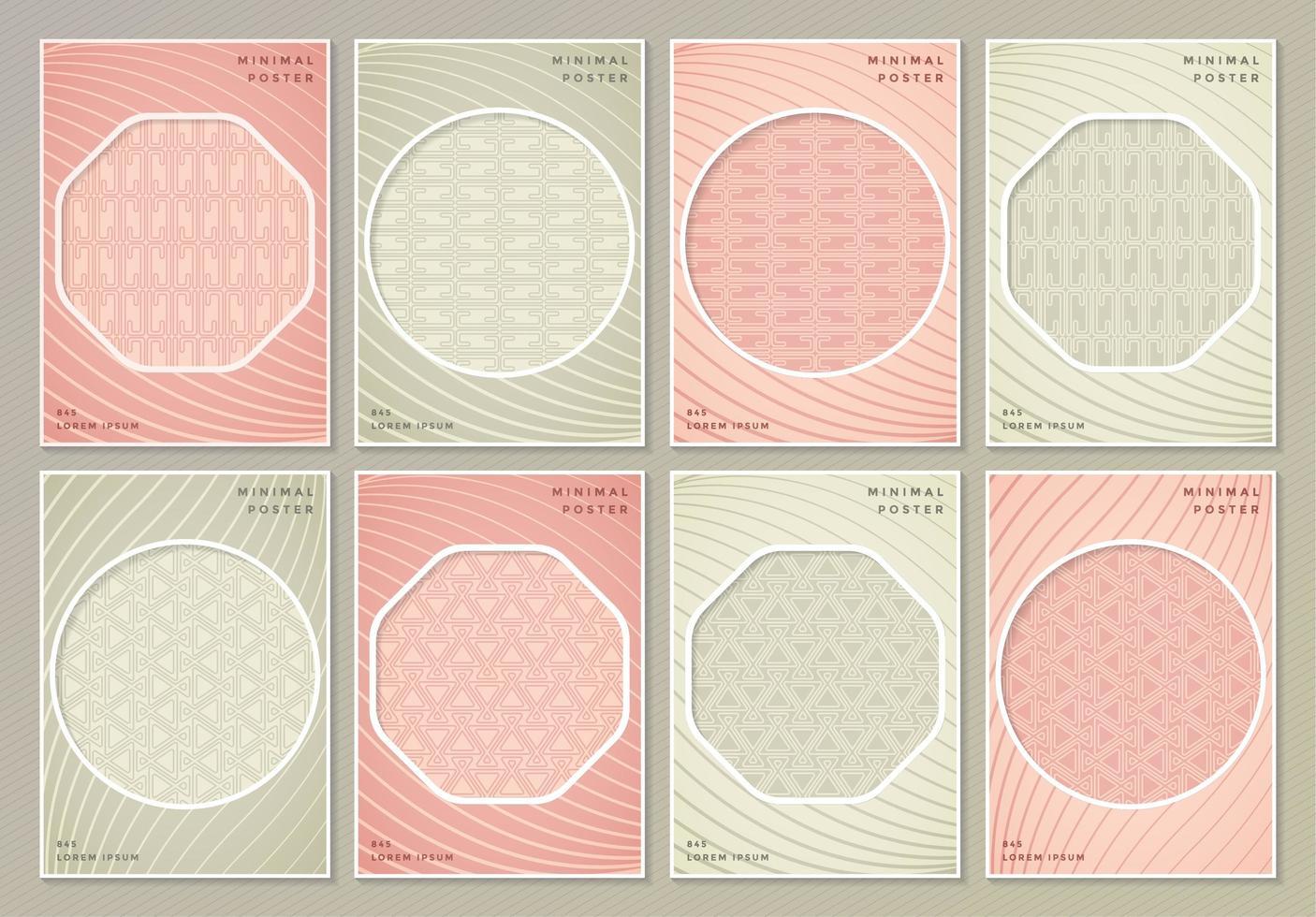 abstrakte retro farbige Mustertexturen für Buchumschläge vektor
