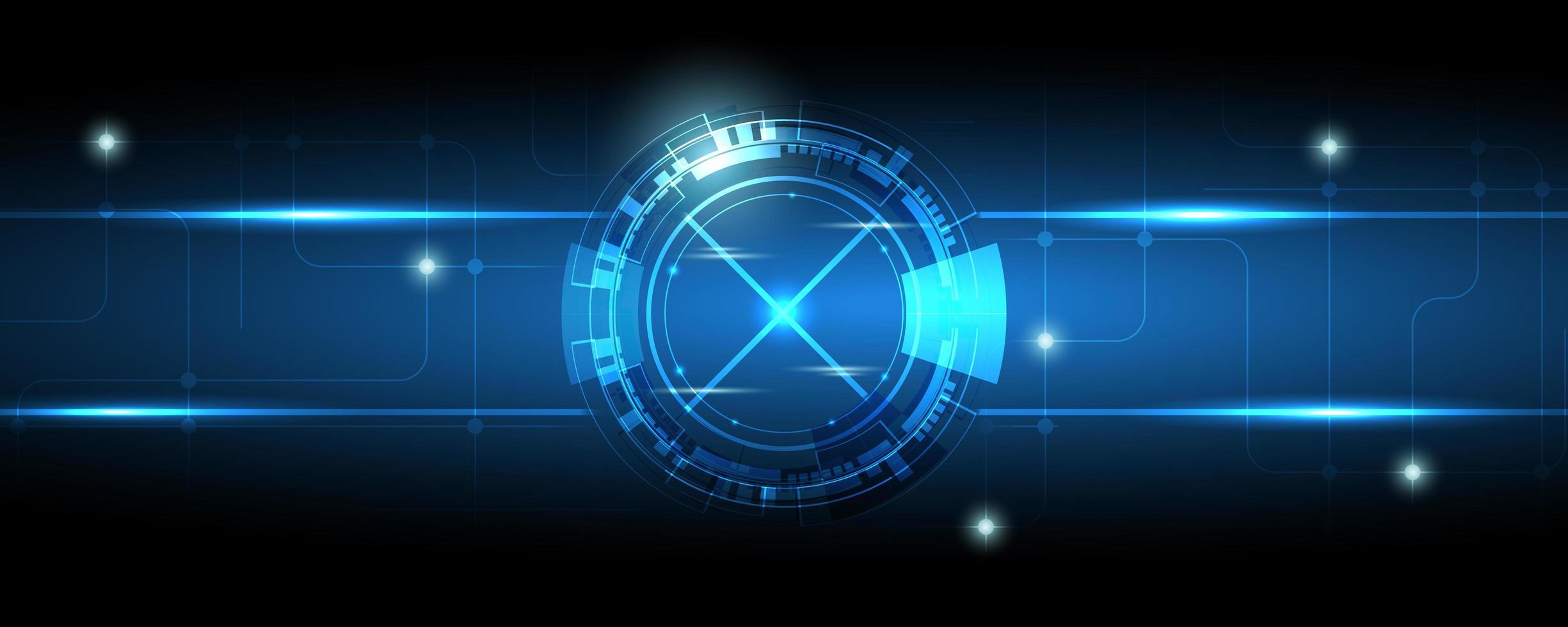 abstrakter blauer Getriebetechnologiehintergrund vektor
