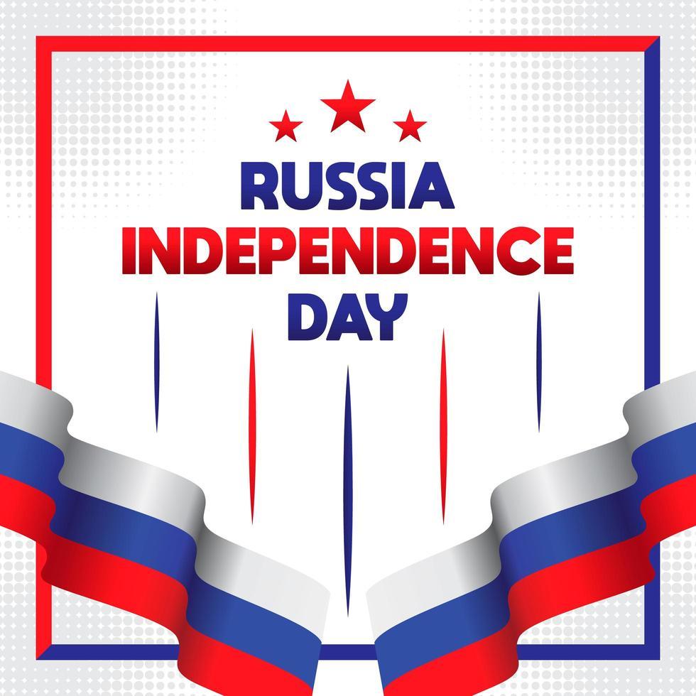 glückliche Russland-Tagesgrußkarte vektor