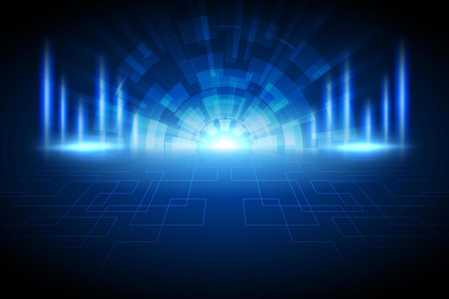 abstrakter dunkelblauer Hintergrund der leuchtenden Lichttechnologie vektor
