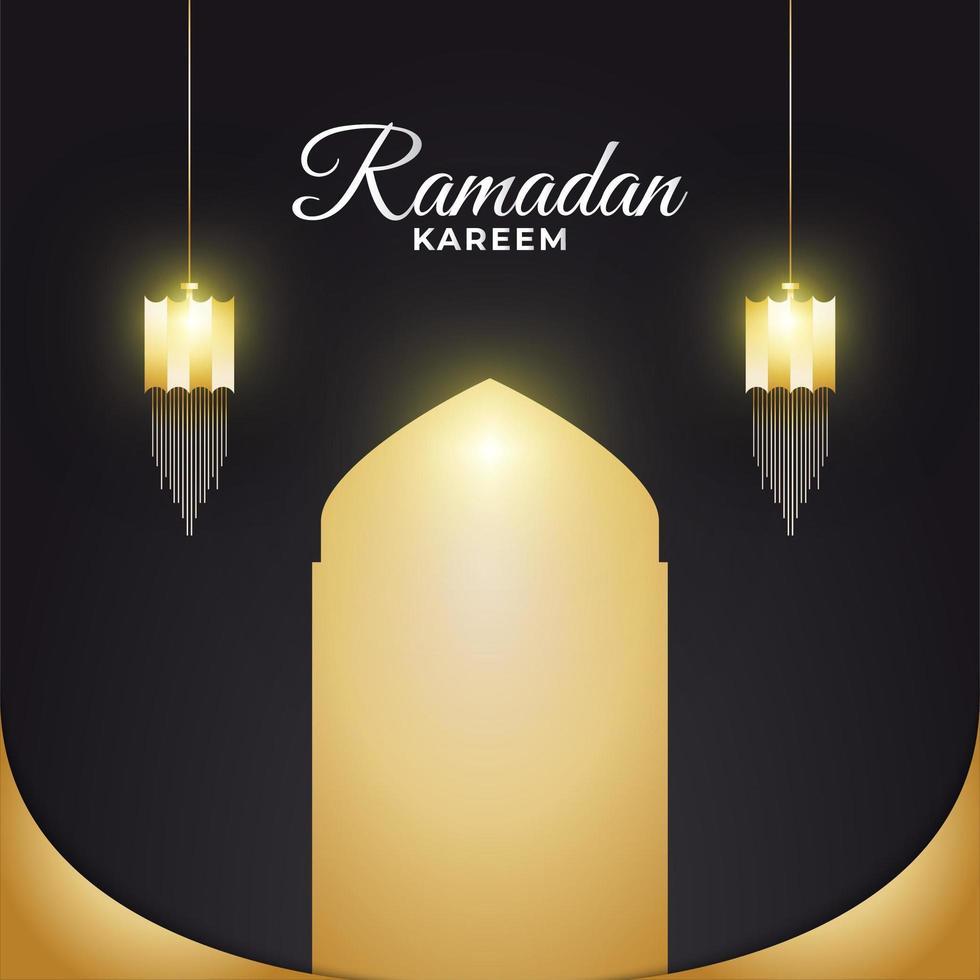 ramadan kareem lyktor vektor