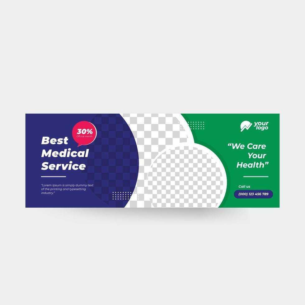 medicinska sociala medier omslag mall banner vektor