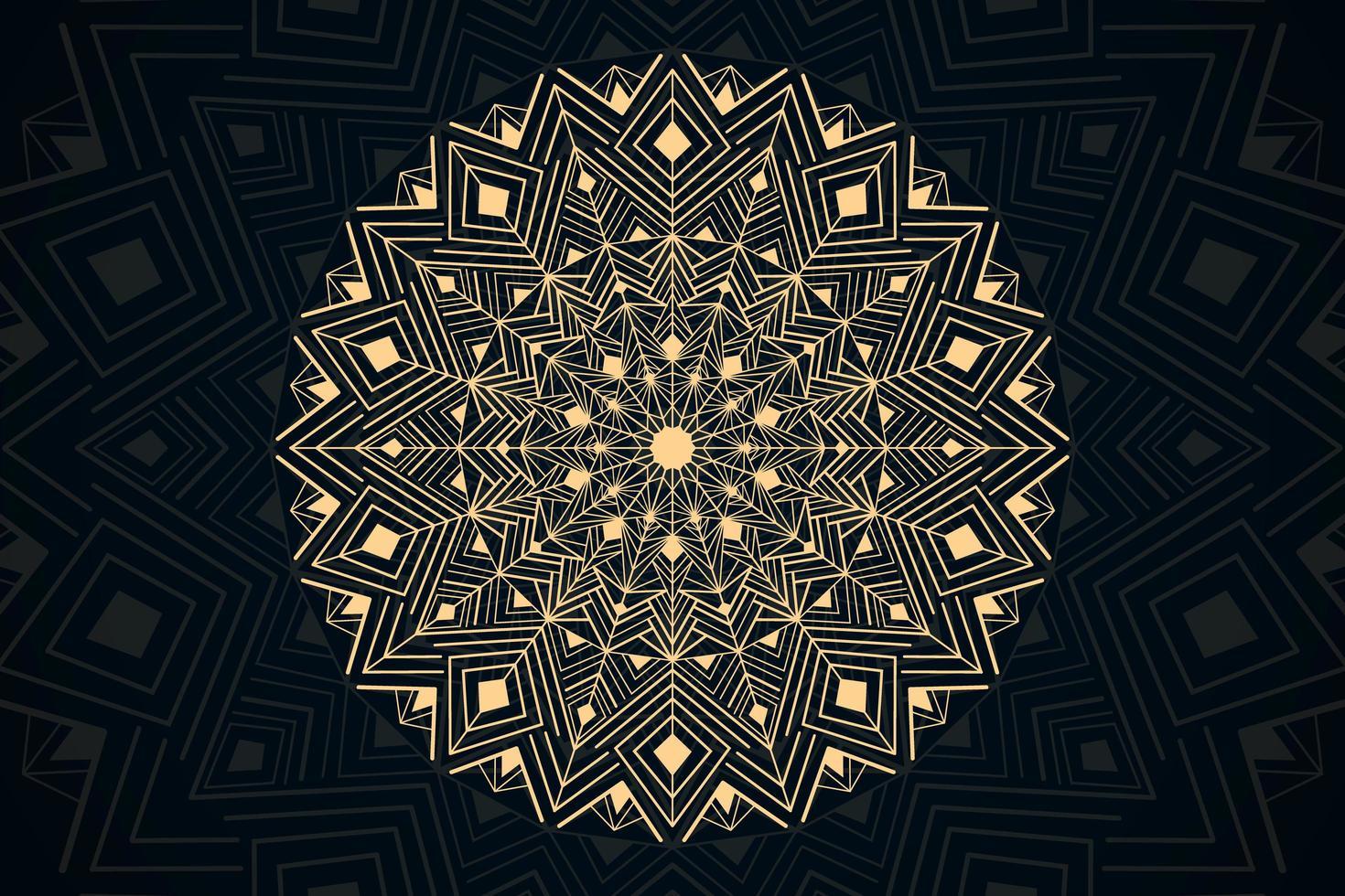Tapete mit goldenem Luxus-Mandala-Thema vektor
