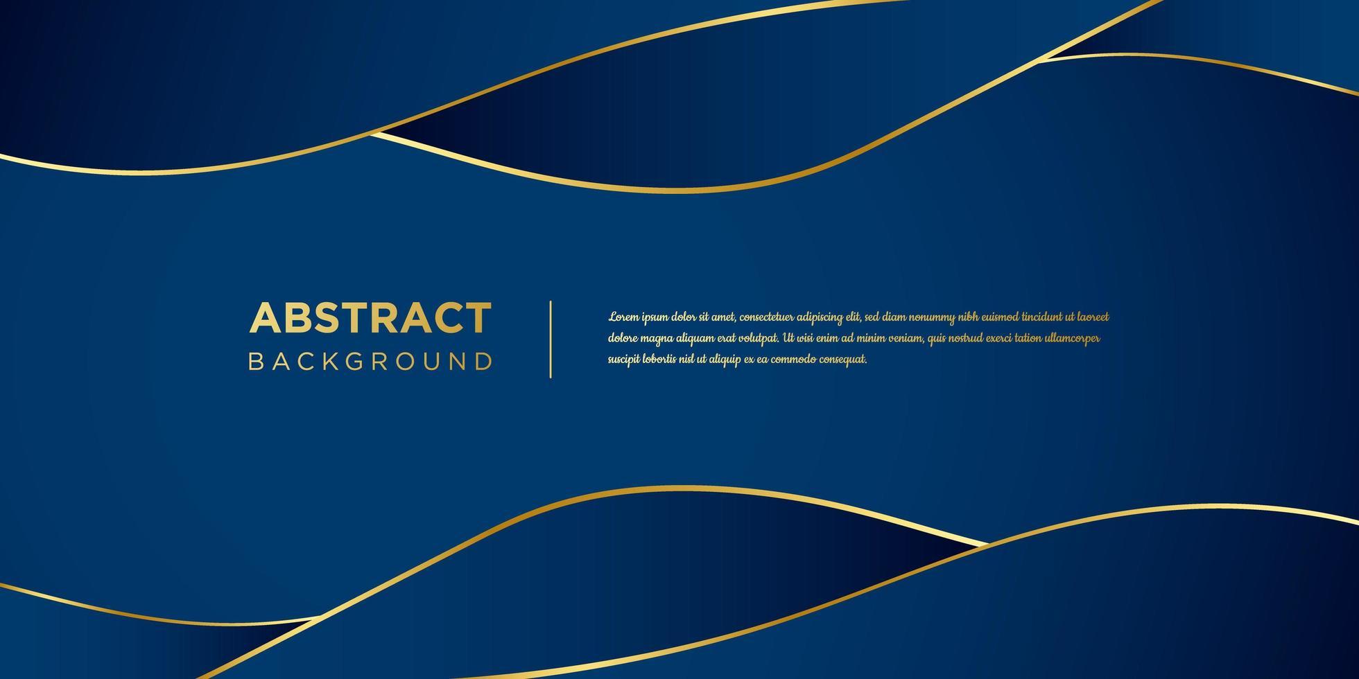 blaue Wellenformen mit Goldakzenthintergrund vektor