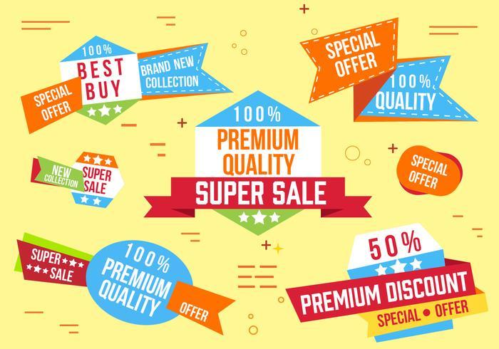 Kostenlose Super Sale Banner Vektor