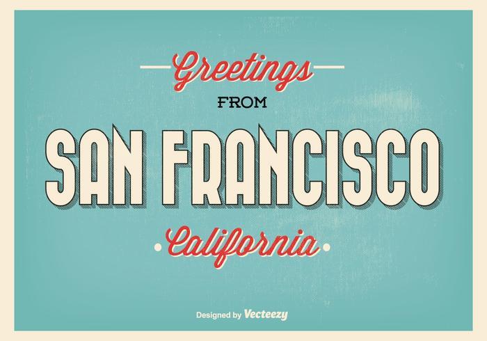 San Francisco Retro Gruß Illustration vektor