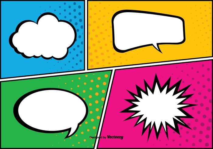 Comic Pop Art Style Bakgrunds Illustration vektor