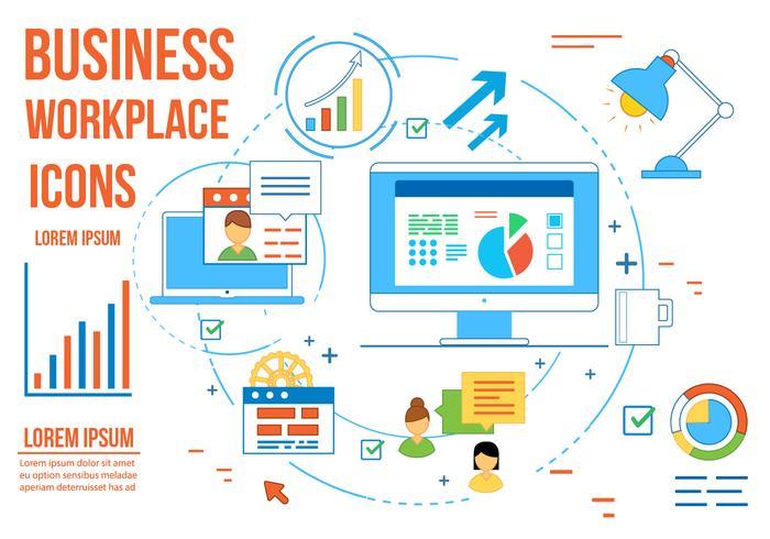 Free Business Vector Arbeitsplatz