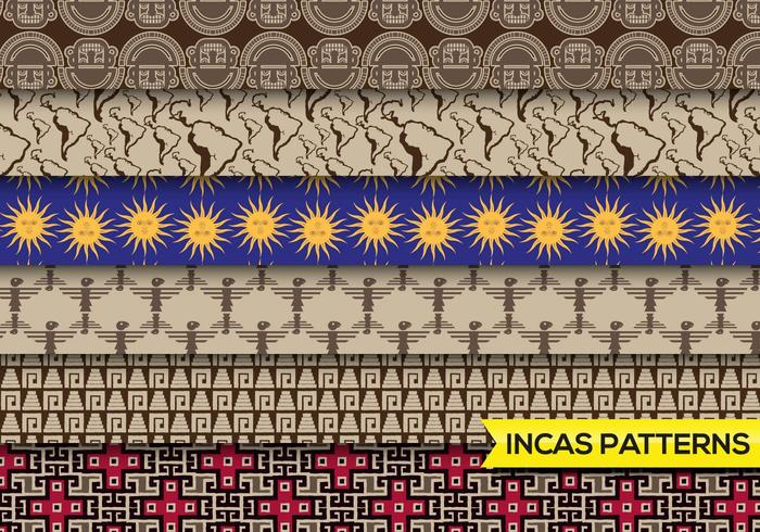 Incas Mayans mönster fritt vektor