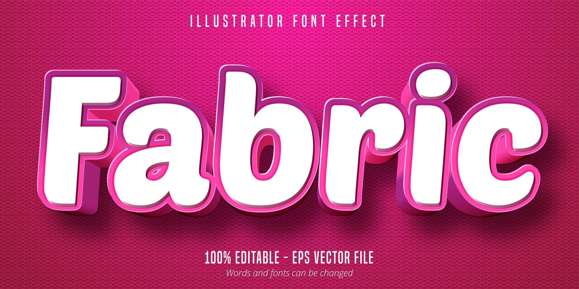 tyg rosa stil teckensnitt effekt vektor
