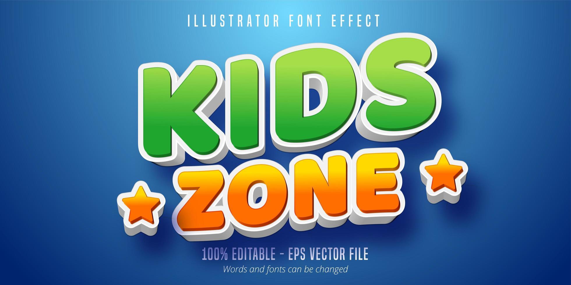 Kinderzone Text vektor