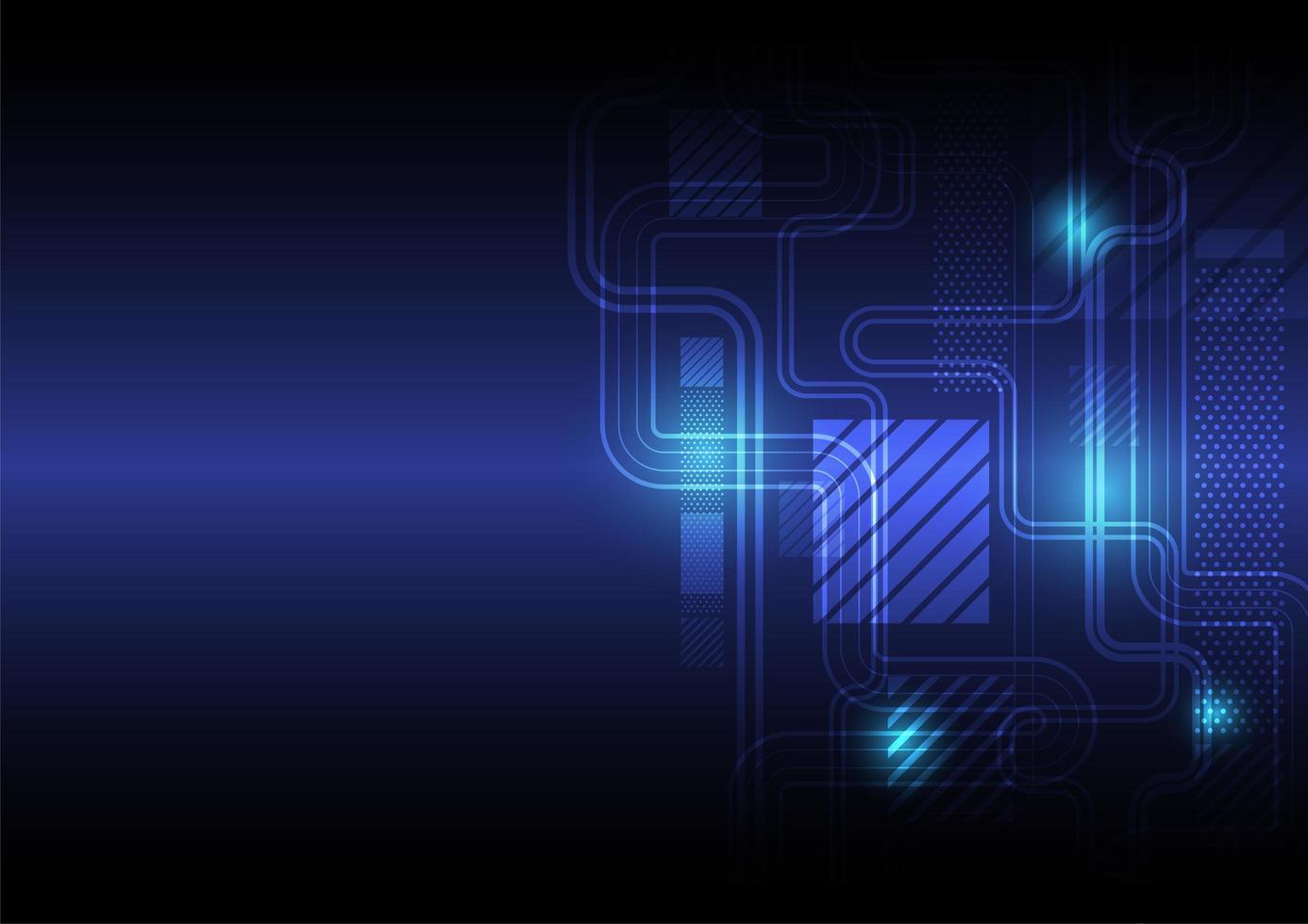 blauer abstrakter digitaler Computerschaltungshintergrund vektor