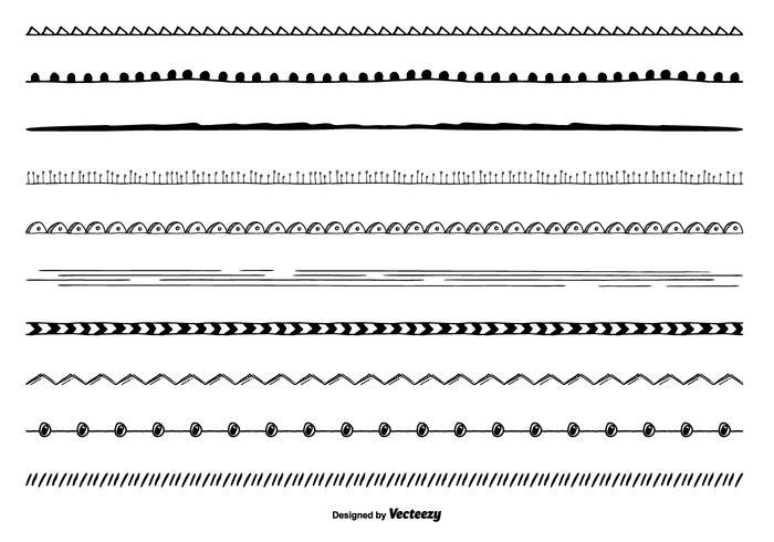 Nette Hand gezeichnete Grenze gesetzt vektor