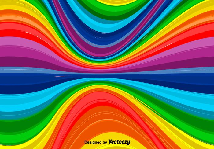 Vector wellenförmiger Regenbogen-Hintergrund