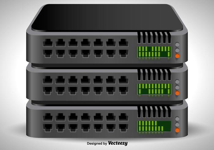 Vektor 3D-serverns rackikonen