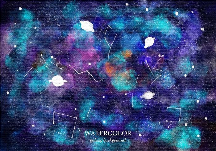 Gratis vektor vattenfärg galax bakgrund