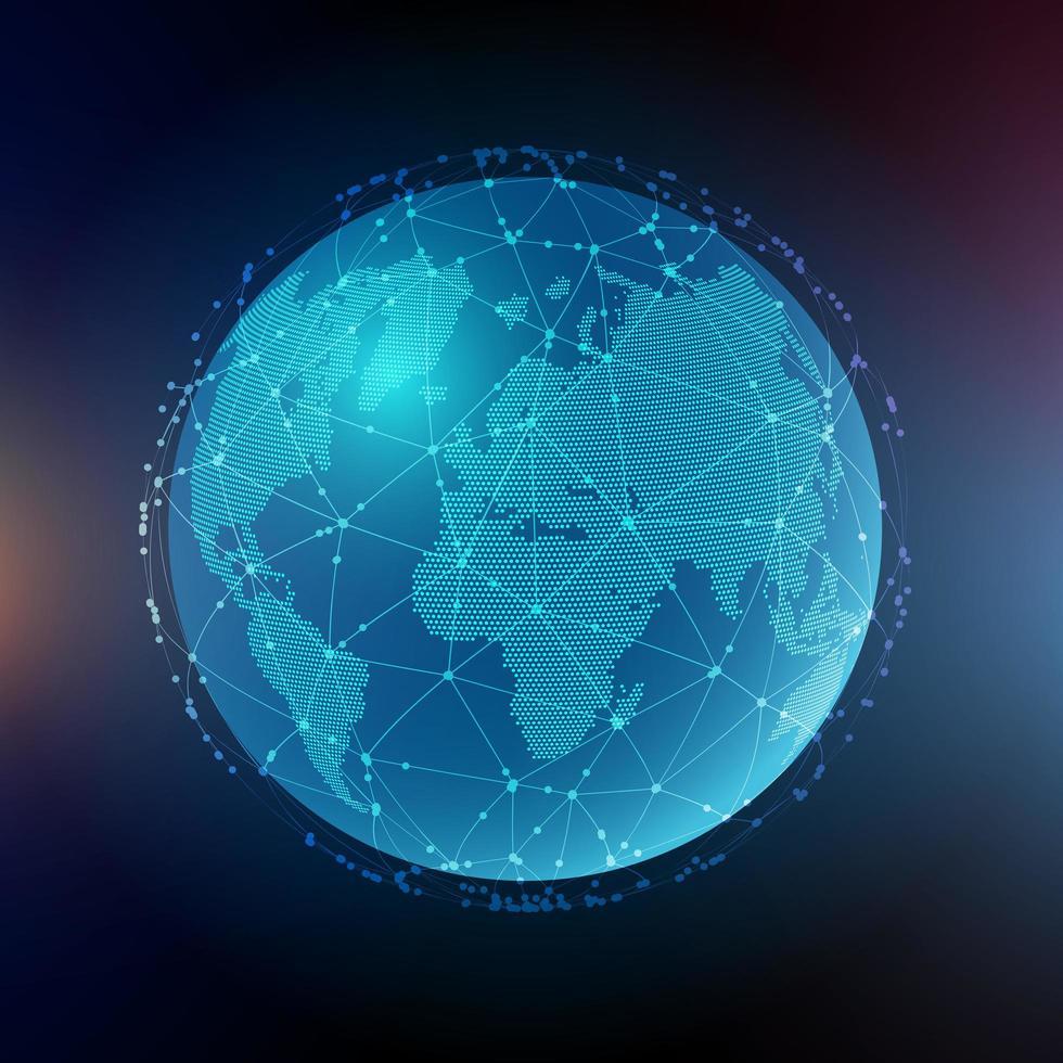 abstrakte globale Kommunikation vektor