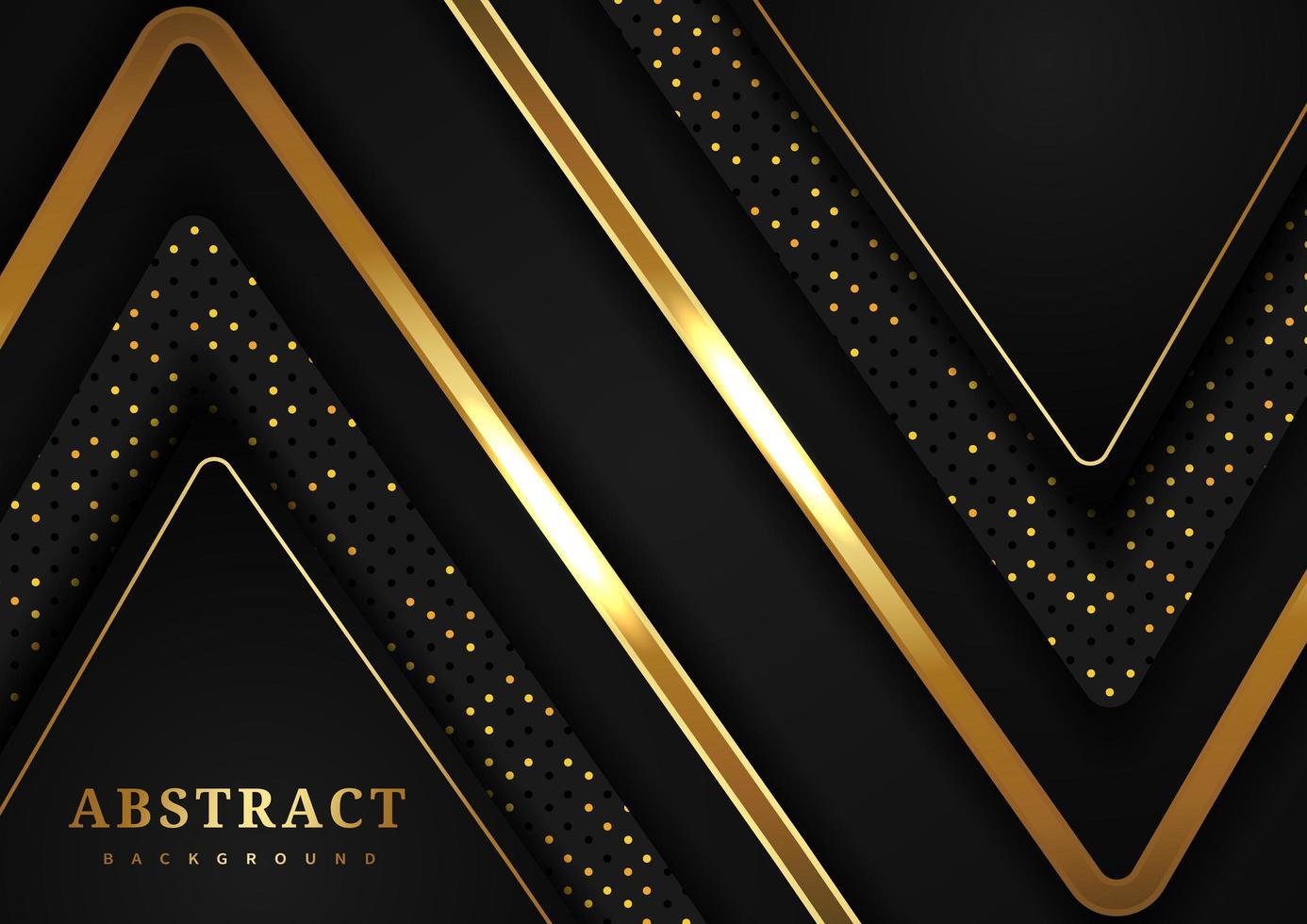 geometrisk bakgrund för svart och guld triangel vektor