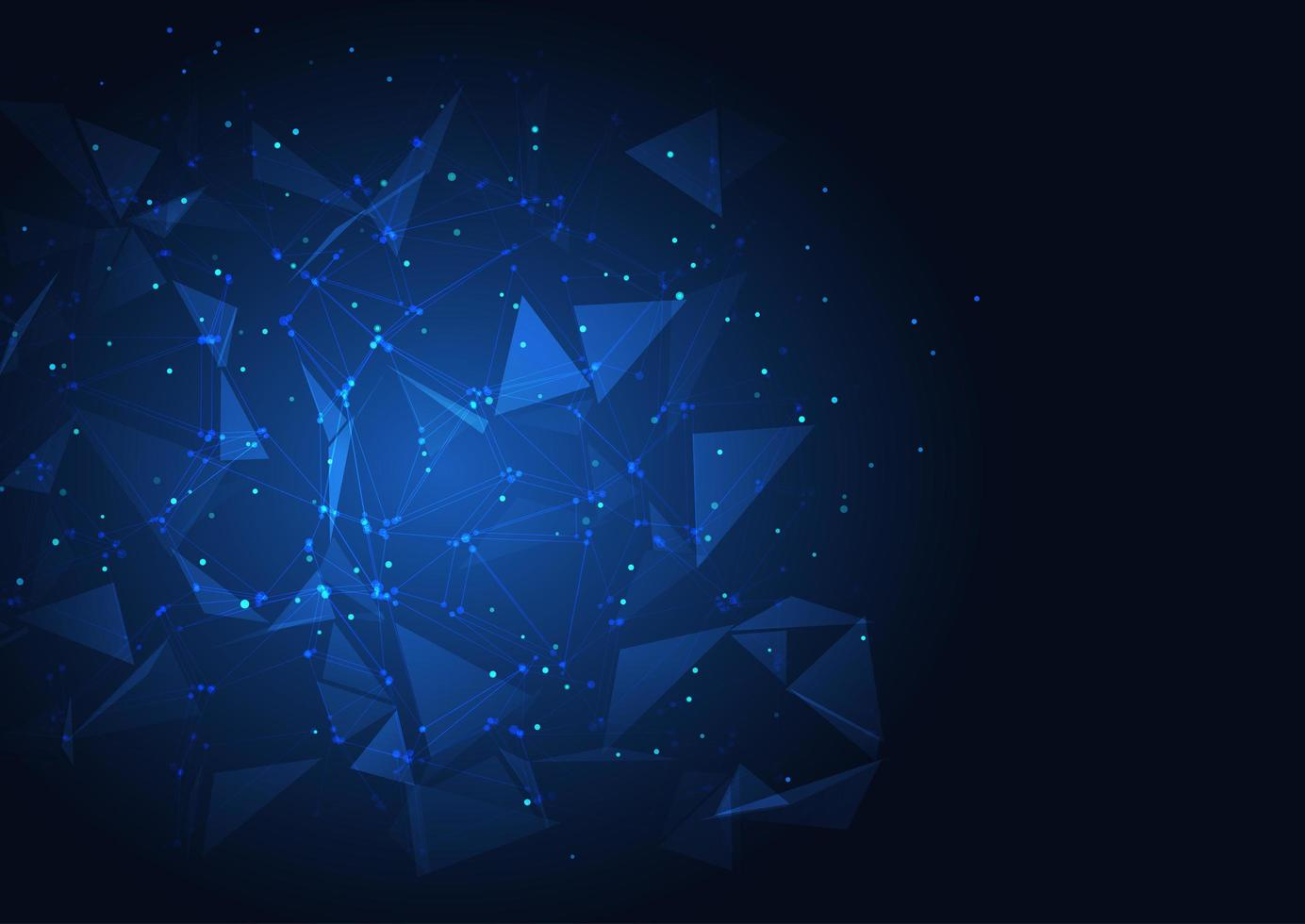 blaues Techno Low Poly Design vektor