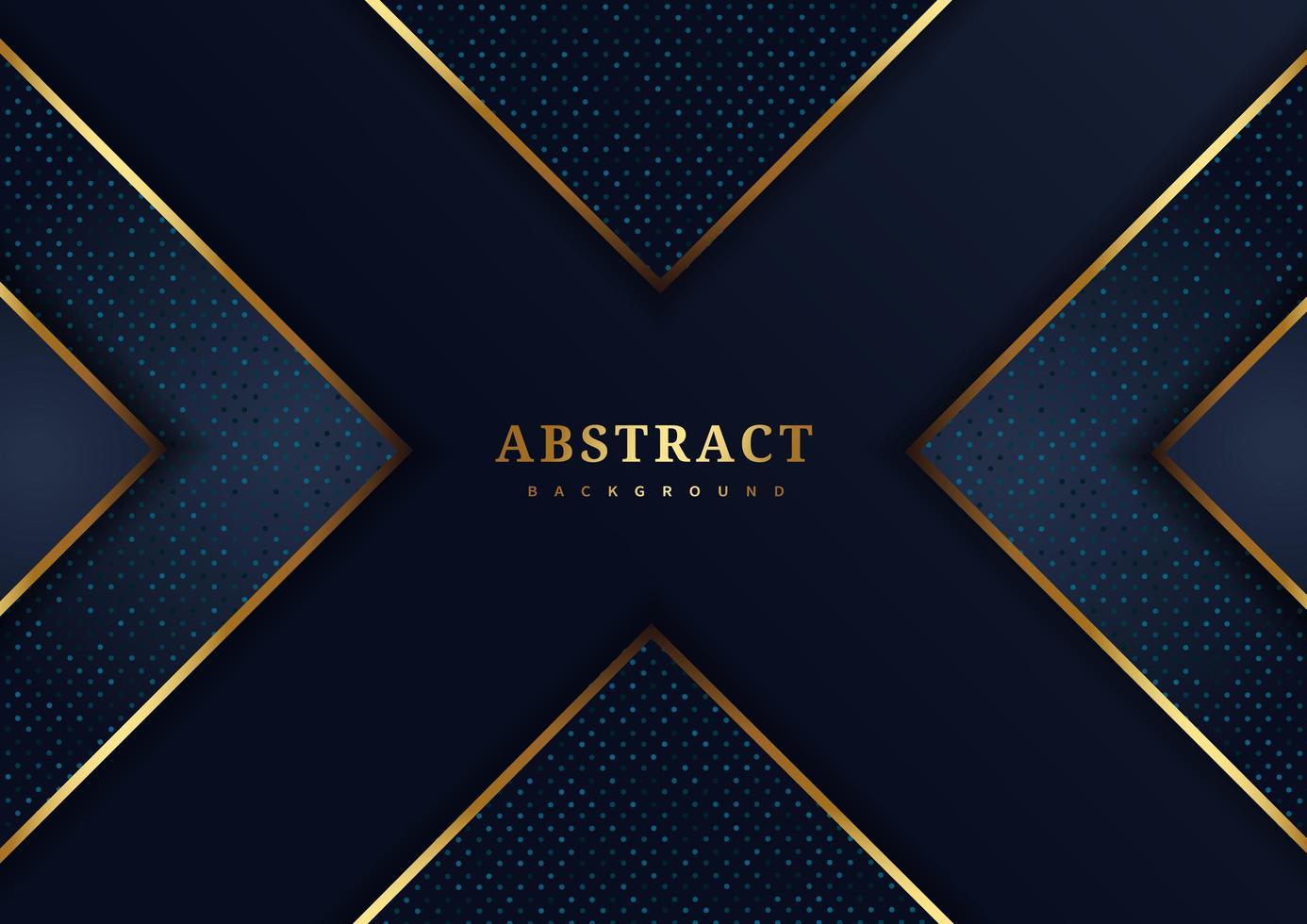 blaue x-Form mit goldenen Akzenten vektor