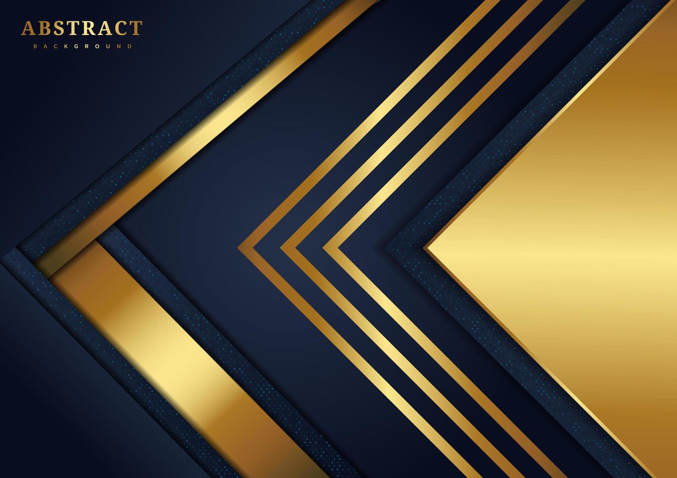 Überlappende Dreiecke in Marine und Gold vektor