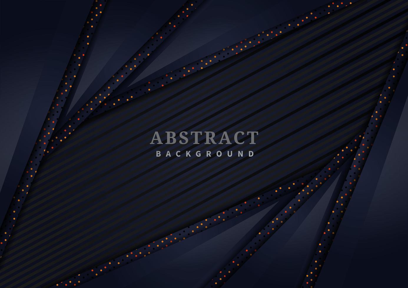 abstrakte dunkelblaue schmale überlappende Formen mit Glitzerhintergrund vektor