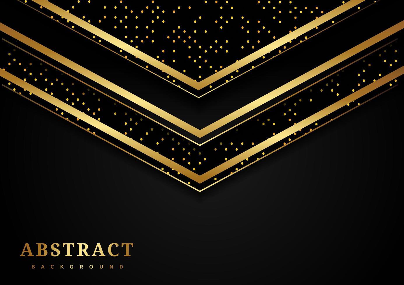 geometrisches Dreieck des abstrakten Goldes, das Luxushintergrund überlappt vektor