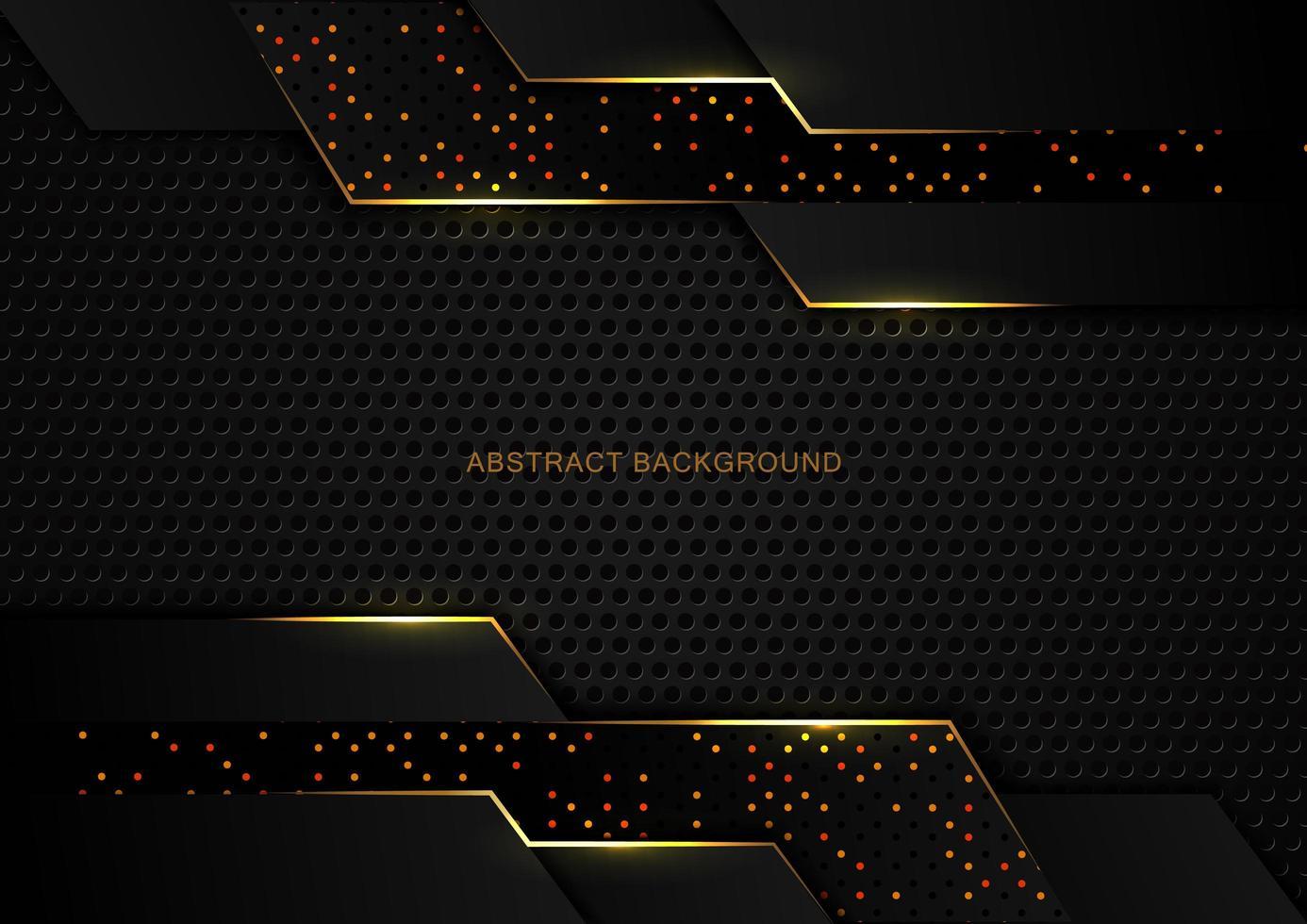 abstrakter Luxus dunkler Tech glitzernder Hintergrund vektor