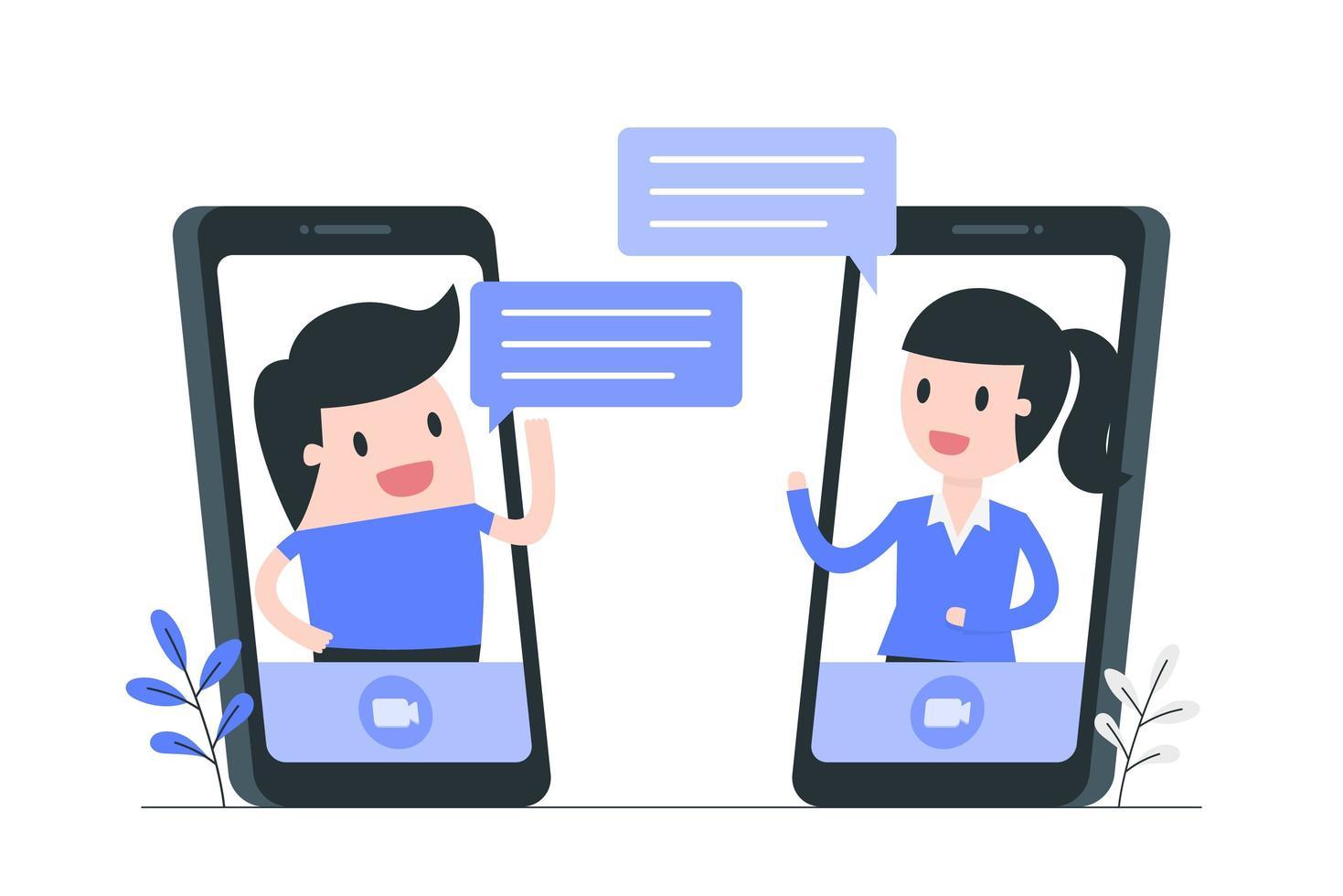 Illustration des Social Media- und Kommunikationskonzepts vektor