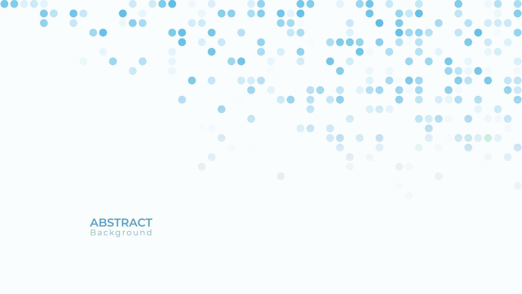 blaue und weiße dynamische Halbton gepunktete Textur vektor