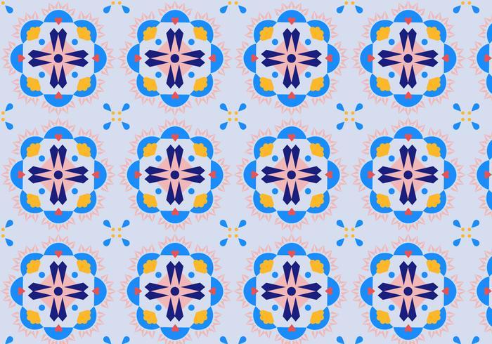 Blumen-Mosaik-Muster vektor