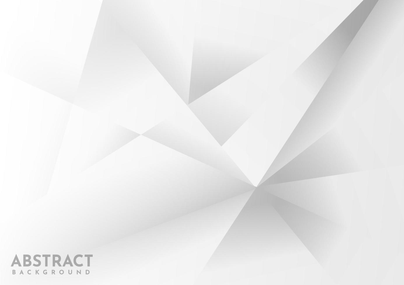 geometrischer weißer und grauer Hintergrund vektor