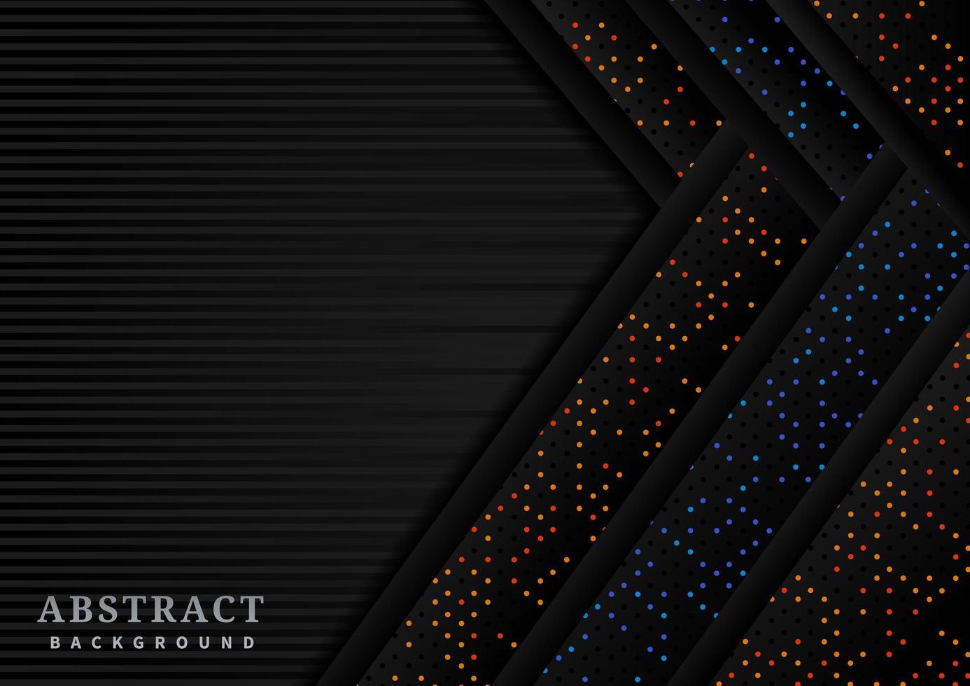 gestreifter Hintergrund mit überlappenden Glitzerpfeilen vektor