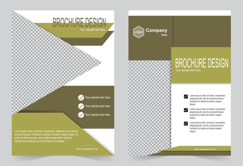Broschüre Vorlage grün Flyer Design vektor
