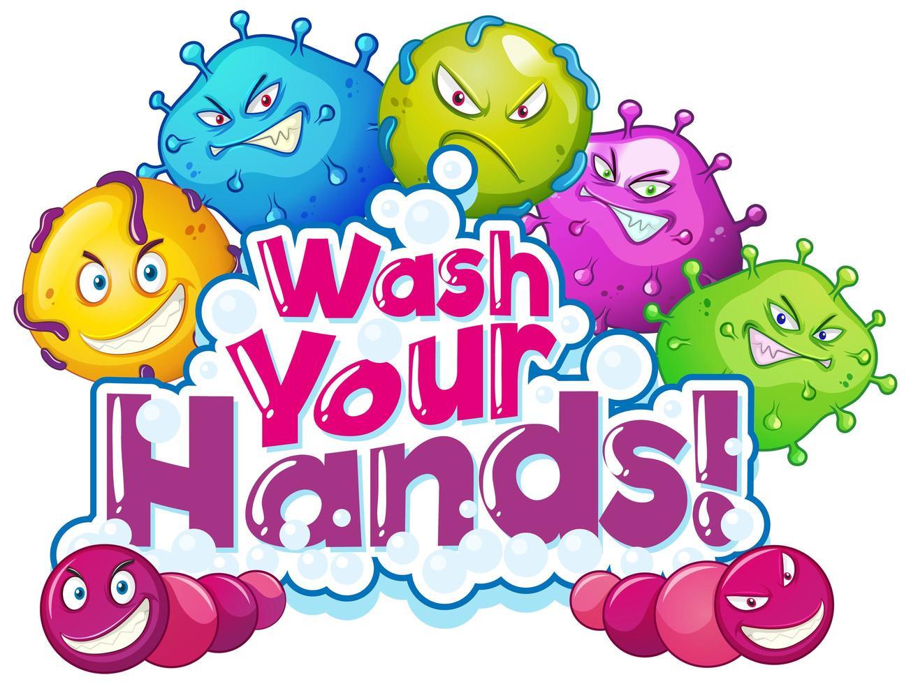 Waschen Sie Ihre Hände Poster Design vektor