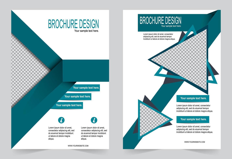 flygblad design grön täckmall vektor