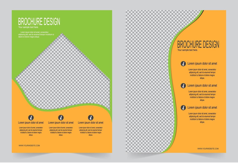 grünes und orangefarbenes Deckelset. vektor