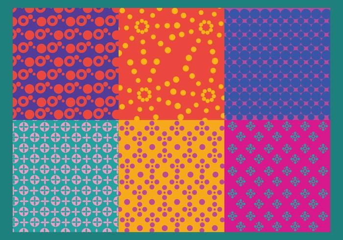 Färgglada punktmönstervektorer vektor