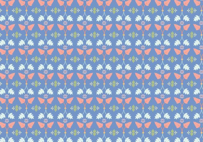 Löv blommönster vektor