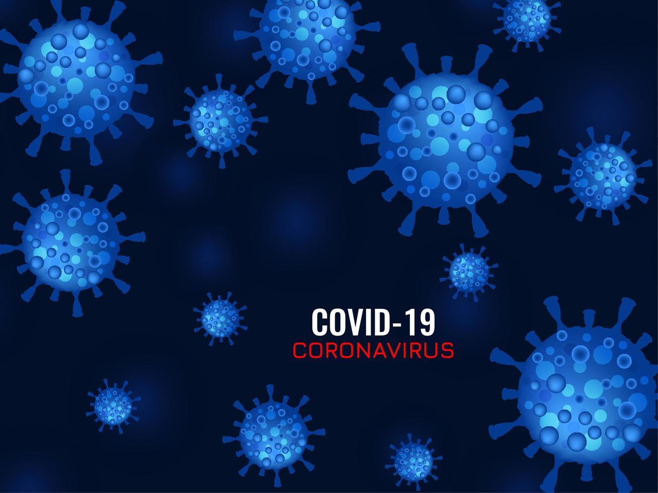 abstrakter Covid-19-Coronavirus-Hintergrund vektor